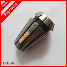 ER16-8, ER collet, spring collet, ER nut, clamping range for cnc router and milling cutting tools