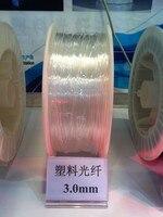 3.0mm de diâmetro/150 m/roll PMMA cabo de fibra óptica brilho lado emissores de luz para a iluminação da decoração