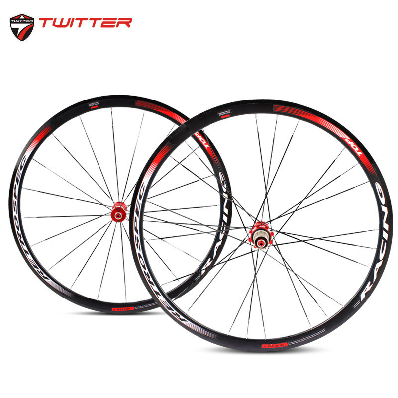 High Quality 4 Bearing 700C Alloy Wheels BMX Road Bicycle Wheel V Brake Aluminium Road Wheelset Bicycle Wheels 1pcs magnesium alloy single speed fixed gear bike wheels 700c road racing venues inch wheel bicycle accessories