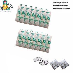Image 1 - Multi sets motor filter freshener vacuum cleaner dust bags VORWERK KOBOLD VK140 VK150  FP140 FP150 bags  vacuum cleaner parts