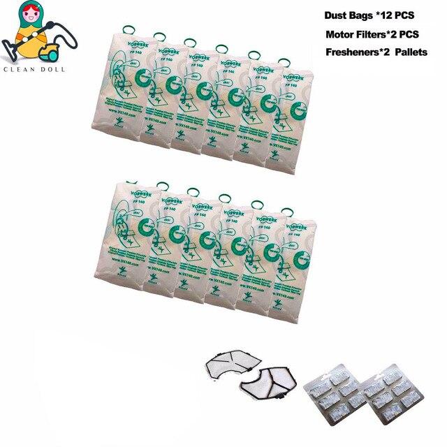 Multi sets motor filter freshener vacuum cleaner dust bags VORWERK KOBOLD VK140 VK150  FP140 FP150 bags  vacuum cleaner parts