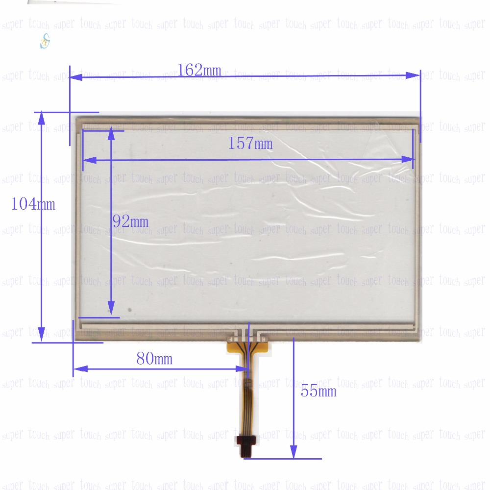 ZhiYuSun 162mm*104mm 170719 7inch 4-wire resistive touch panel for Car DVD, 162*104 GPS Navigator screen  glass цена и фото