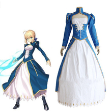 Hot Fate Stay Night Cosplay Saber Costume Full Set Costumes Halloween Carnival Altria Pendragon