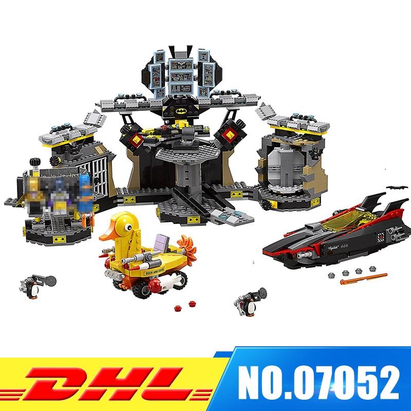 DHL New Arrival LEPIN 07052 Batman Movie Batcave Break-in Man-Bat Bricks Sets Building Block Toys Compatible 70909 boy girl toys dhl ems 2 sets 1pc md204lv4 md204l text display new in box