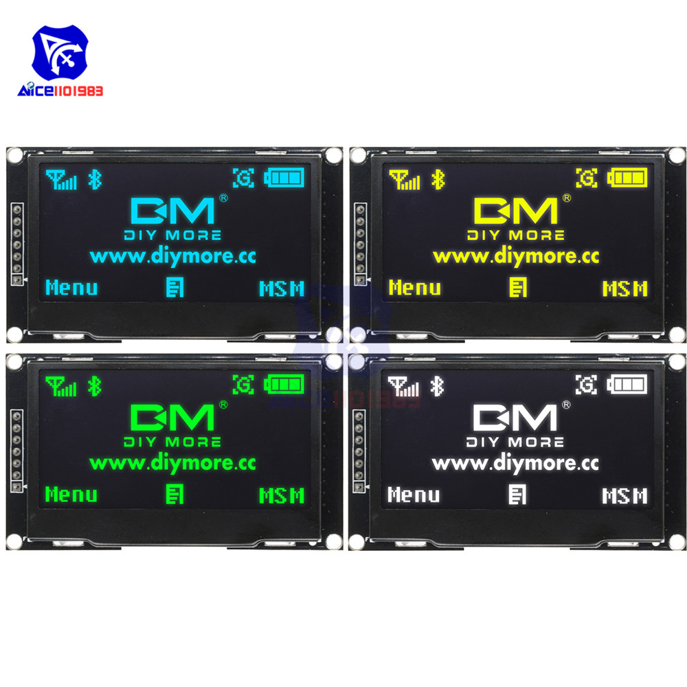 """Diymore 2.4"""" 2.42 Inch 128x64 OLED LCD Display Module SSD1309 12864 7 Pin SPI/IIC I2C Serial Interface For Arduino UNO R3 C51"""