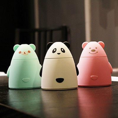 Cute USB Portable Mini Water Bottle Cap Humidifier Air Diffuser Aroma Mist Maker