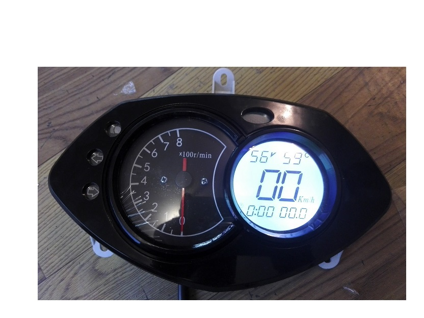 ФОТО Electric Speedometer For Motorcycle 48v-144v show 0-199km/h