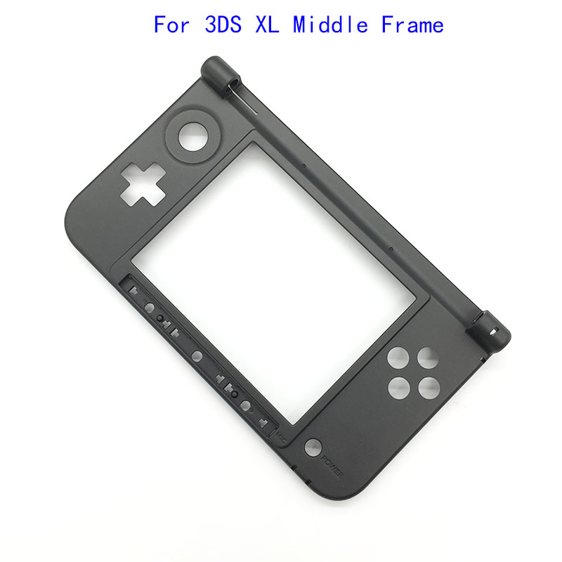10pcs For Nintendo 3DS XL Original New Matte Bottom Middle Frame Housing Shell Cover Case Replacement  for 3DS LL Game Console