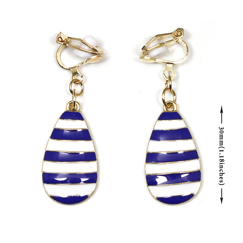Purple and Silver Striped Earrings Pierced or Clip-on