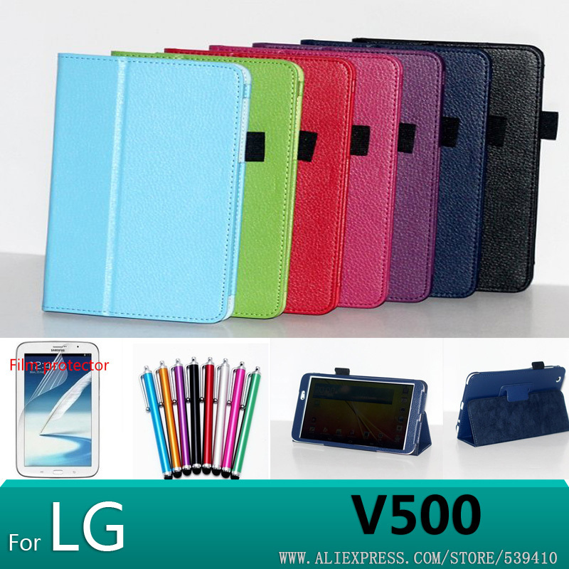 case for lg v500 g pad 8.3 tablet cover Litchi Leather Case Cover For LG G Pad 8.3 V500 case Tablet cover +screen protectors