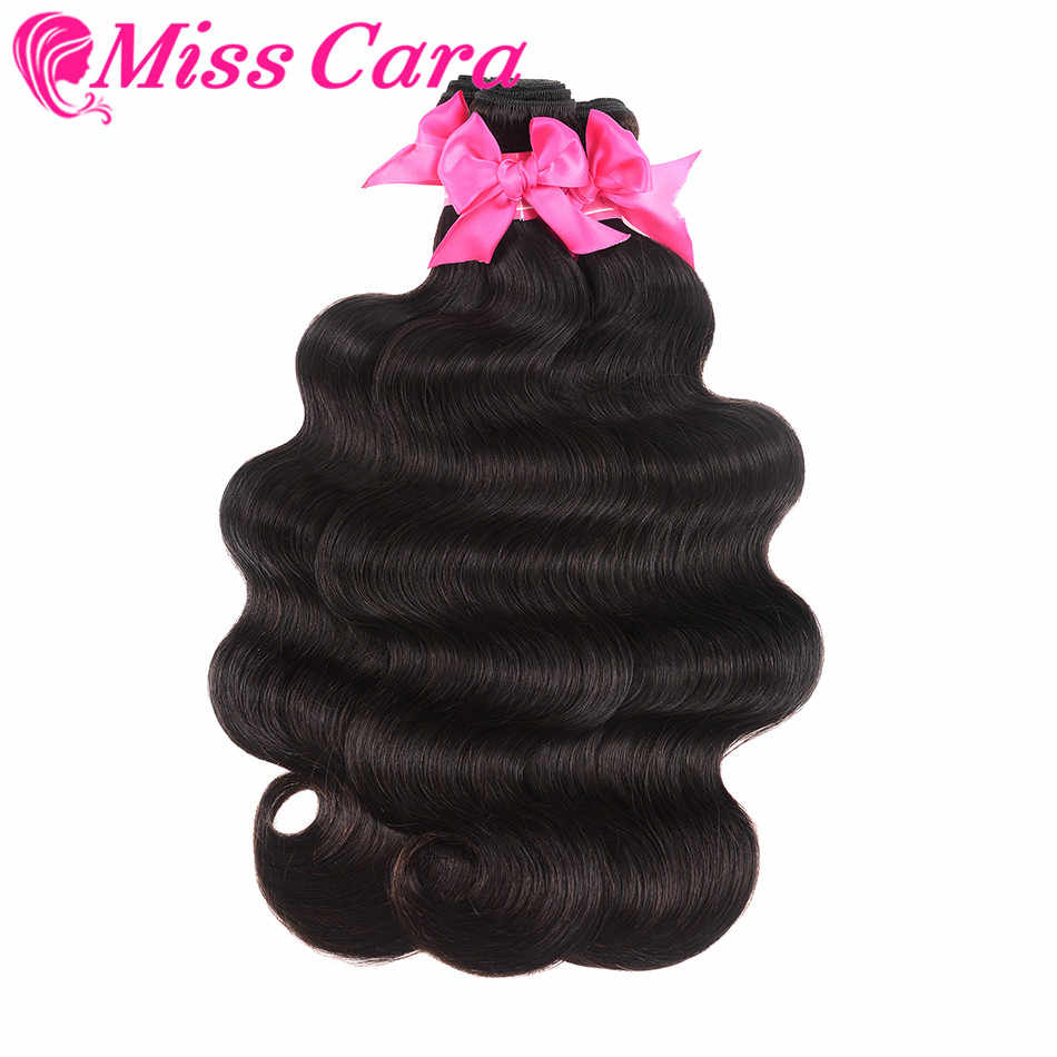 4 mechones por lote extensiones de pelo ondulado malasio ondulado 100% extensiones de cabello humano Color Natural Miss Cara Remy tejido de pelo