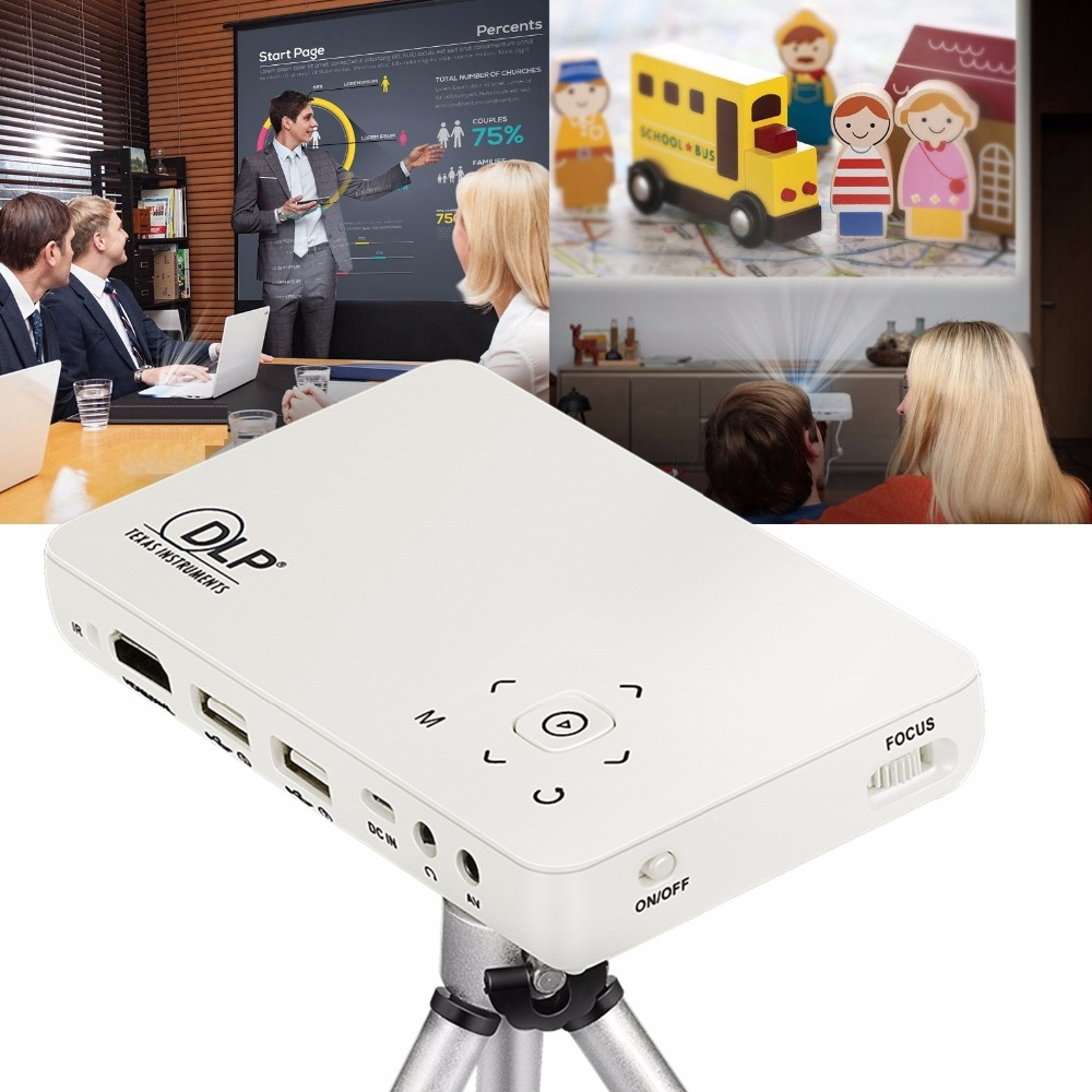 Hot GP1S Mini Projector Portable Micro Full HD DLP 1080P Smart Projector With Wireless Wifi Business Education Home Theater pocket projector ultra thin 1080p hd home theater mini portable wifi smart dlp projector with tripod