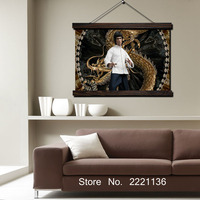 Kungfu Stars Painting Scroll Painting Modern Home Framed Hanging Wall Decoration Artworks in High Definition Print Poster