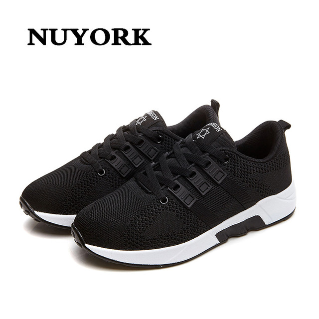 NUYORK 2017  fashion Shoes Woman Mesh Casual Shoes Flat Shoes For Women  Brand Zapatos Mujer chaussure Handmade Femme shoes