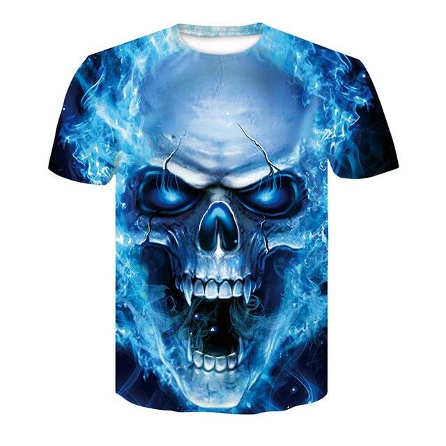 6dbbc6550e15 Hot Selling Men s Summer Fashion 3d print Skull poker t shirt Men casual  breathable plus size short sleeve Hip Hop tees tops