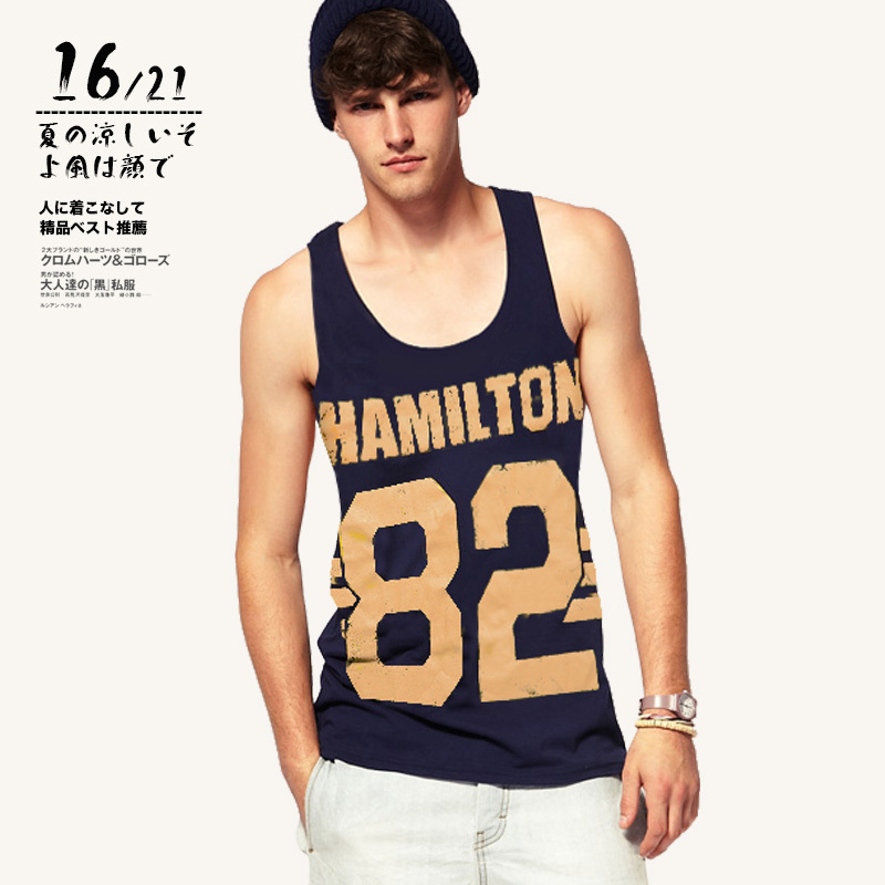 61655221b6c4c Hot Sale 2015 Summer Style Men s Gym Tank Top Fashion Print Loose Mens  Undershirt Sport Fitness Men Tank Tops Size M XXL-in Tank Tops from Men s  Clothing on ...