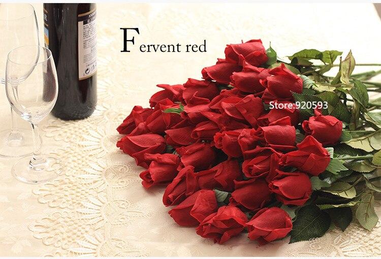 Hoa hồng giả HH-171: Mẫu B - Màu đỏ