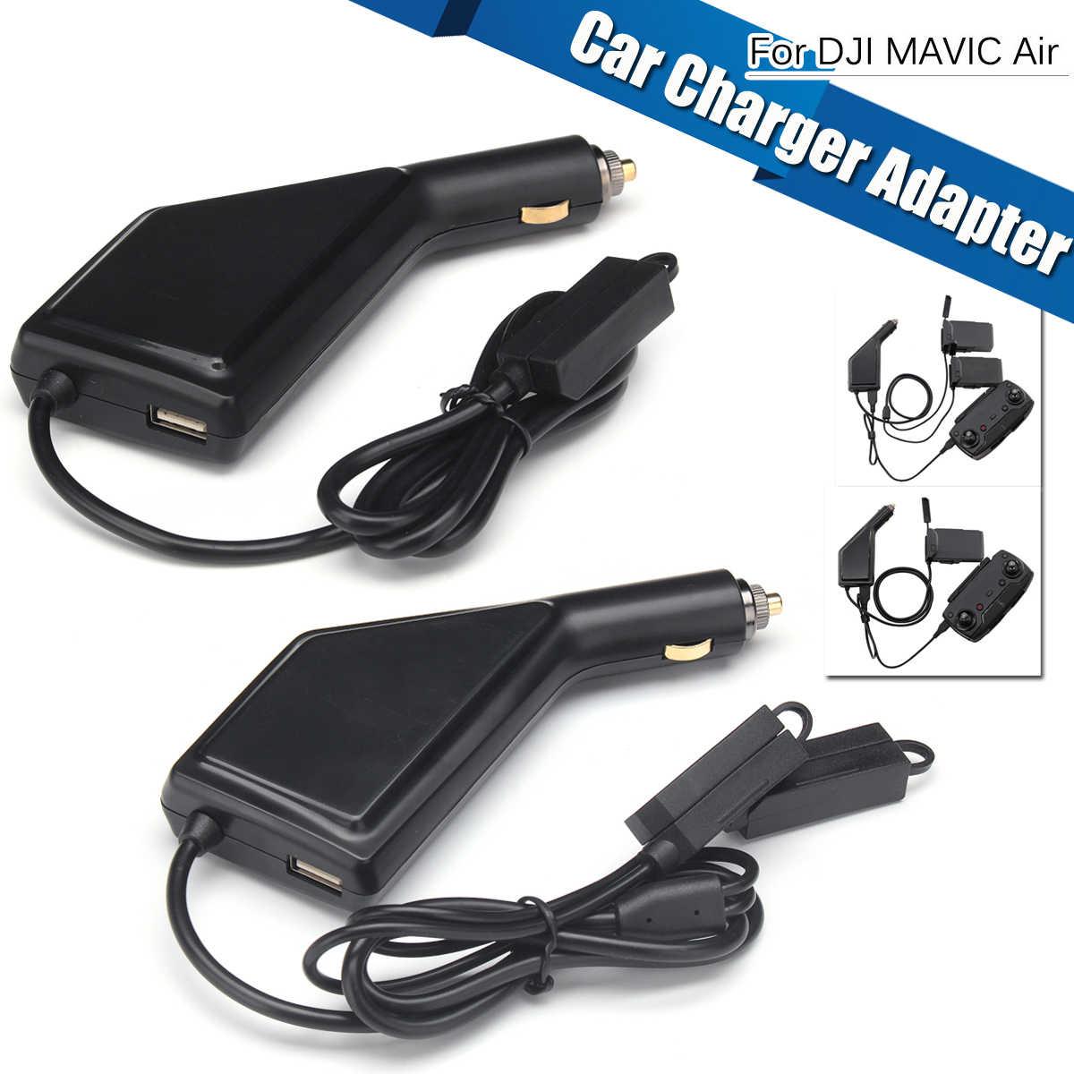Cargador de coche 3in1 para DJI Mavic Air cargador de batería inteligente Hub Mavic conector de aire adaptador USB cargador de coche de batería múltiple