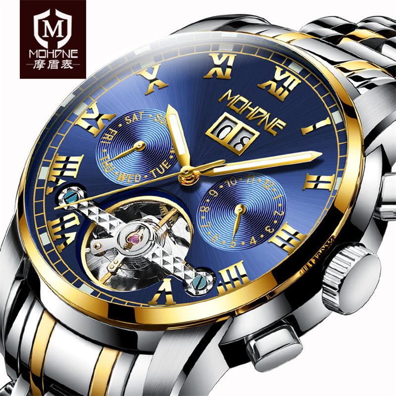 Men Wrist Watch Mechanical Watch Skeleton Fashion Luminous Tourbillon Mens Watches Top Brand Luxury Relogio Automatico Masculino new mechanical hollow watches men top brand luxury shenhua flywheel automatic skeleton watch men tourbillon wrist watch for men
