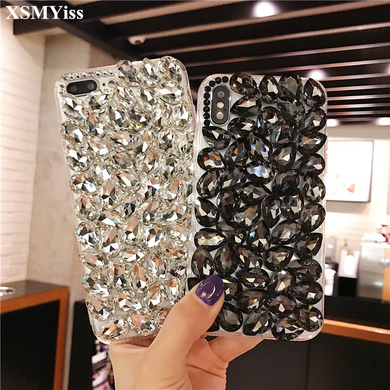 phone case Bling 3D Crystal Diamonds soft Back Cover for Xiaomi mi 8 Lite 9 SE 5X 6X MAX3 For Xiaomi Redmi6 4X 5A 6A Note 5 6 7