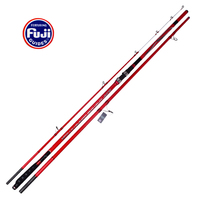 Wholesale 2pcs/pack 4.25M Full Fuji Components 100 250g Lure weight 3 sections Super hard high carbon fiber surfcasting rod