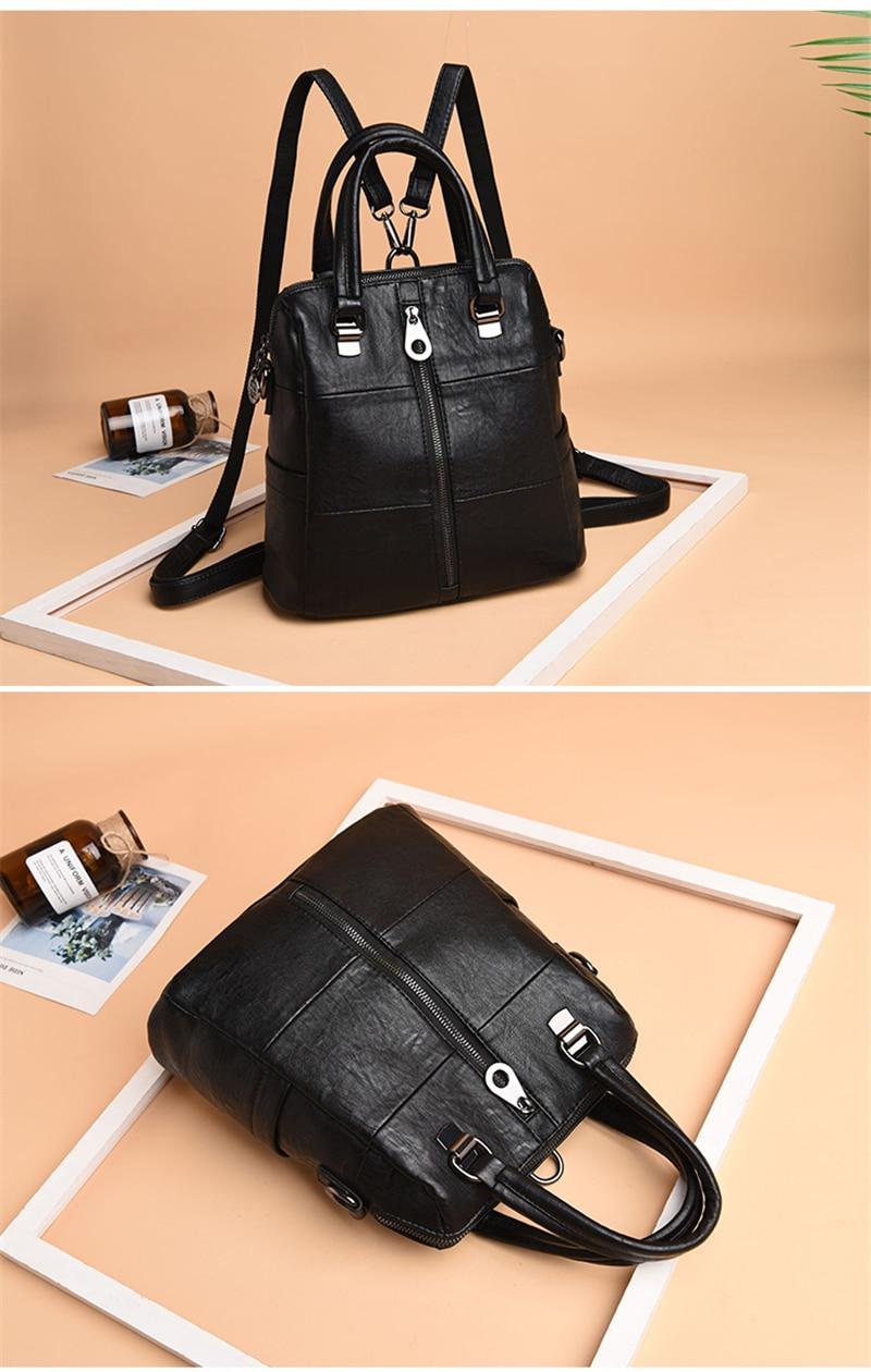 HTB1mjLPdYAaBuNjt igq6z5ApXaO 3-in-1 Women Leather Backpacks Vintage Female Shoulder Bag Sac a Dos Travel Ladies Bagpack Mochilas School Bags For Girls Preppy