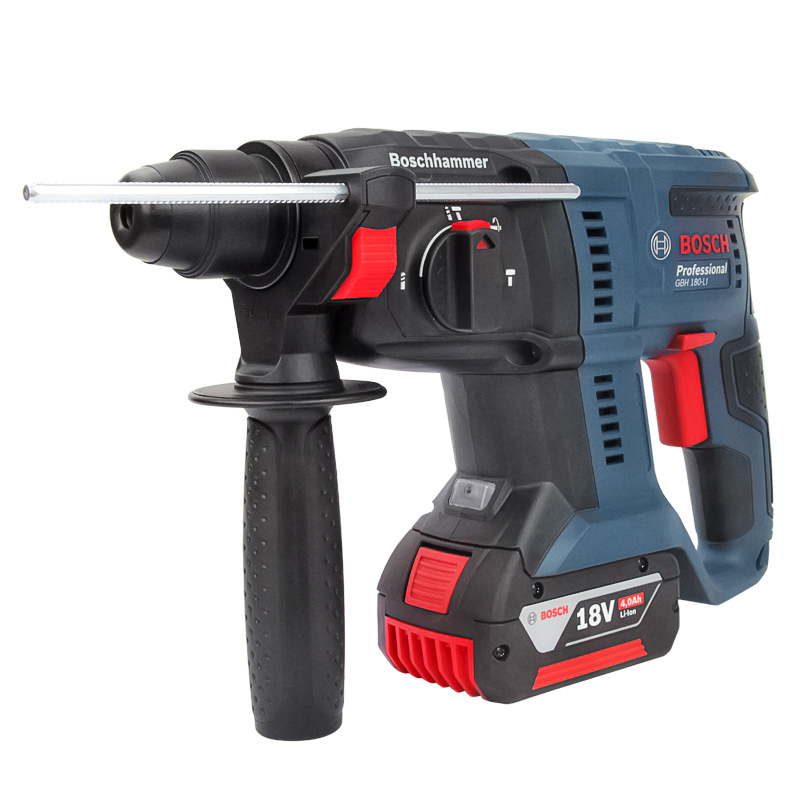 Multifunctional industrial grade concrete impact drill household rechargeable lithium battery hammer drill GBH180 LI|Electric Hammers| |  - title=