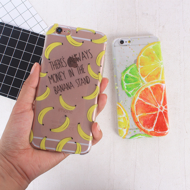 Colorful Design Transparent Silicone Phone Cases for All iPhone Mobiles