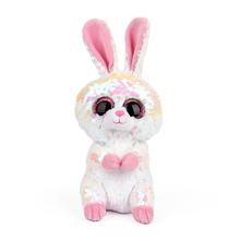 15cm Hot Sale Ty Beanie Boos Big Eyes Color Sequins Rabbit Dolphins Lazy Unicorn Stuffed Animals Plush Doll  Kids Toys