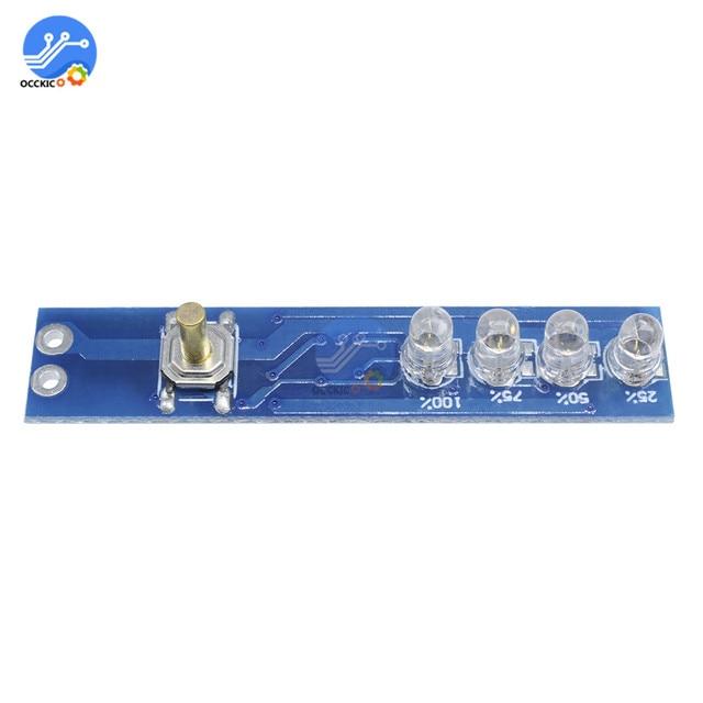 BMS 1S 2S 3S 4S Lithium Batterij Capaciteit Indicator Board Power Indicator Voor 18650 Lithium battery Charger DIY