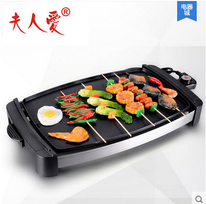 2000w Electric Grill Pan Non Stick Electric Hotplate