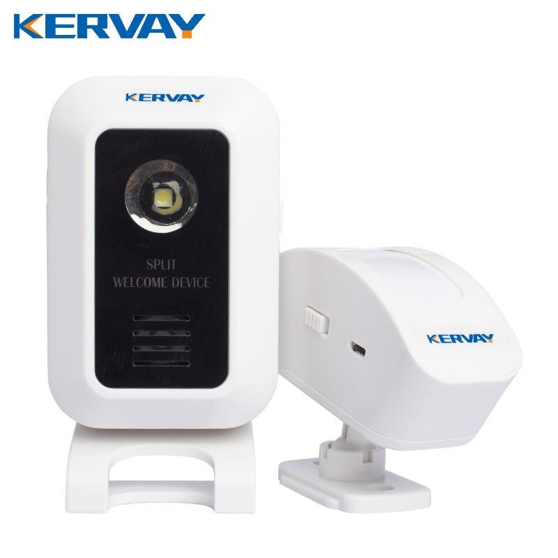 Dispositivo di benvenuto porta allarme benvenuto campanello senza fili a infrarossi ir segnale motion sensor porta campana allarme entry campanello di allarme sirena