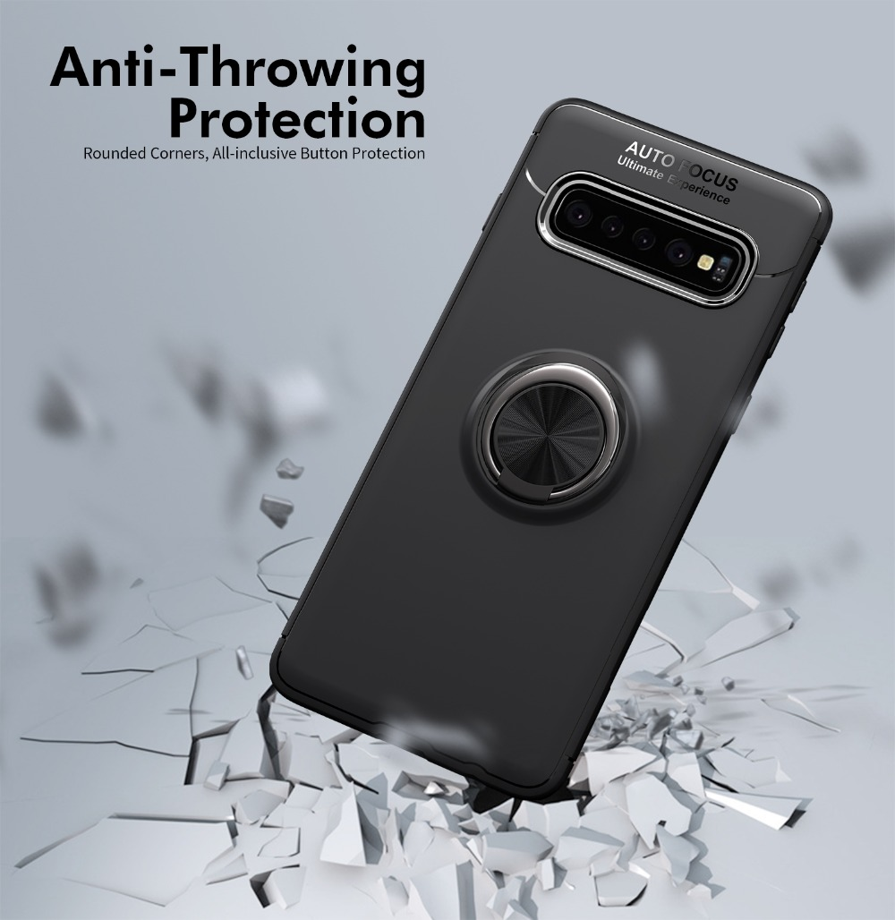Case For Samsung Galaxy S10 E Case Ring Magnetic Cover For Samsung A6 Plus J6 2018 S9 Plus Note 9 8 Case For S10 Plus