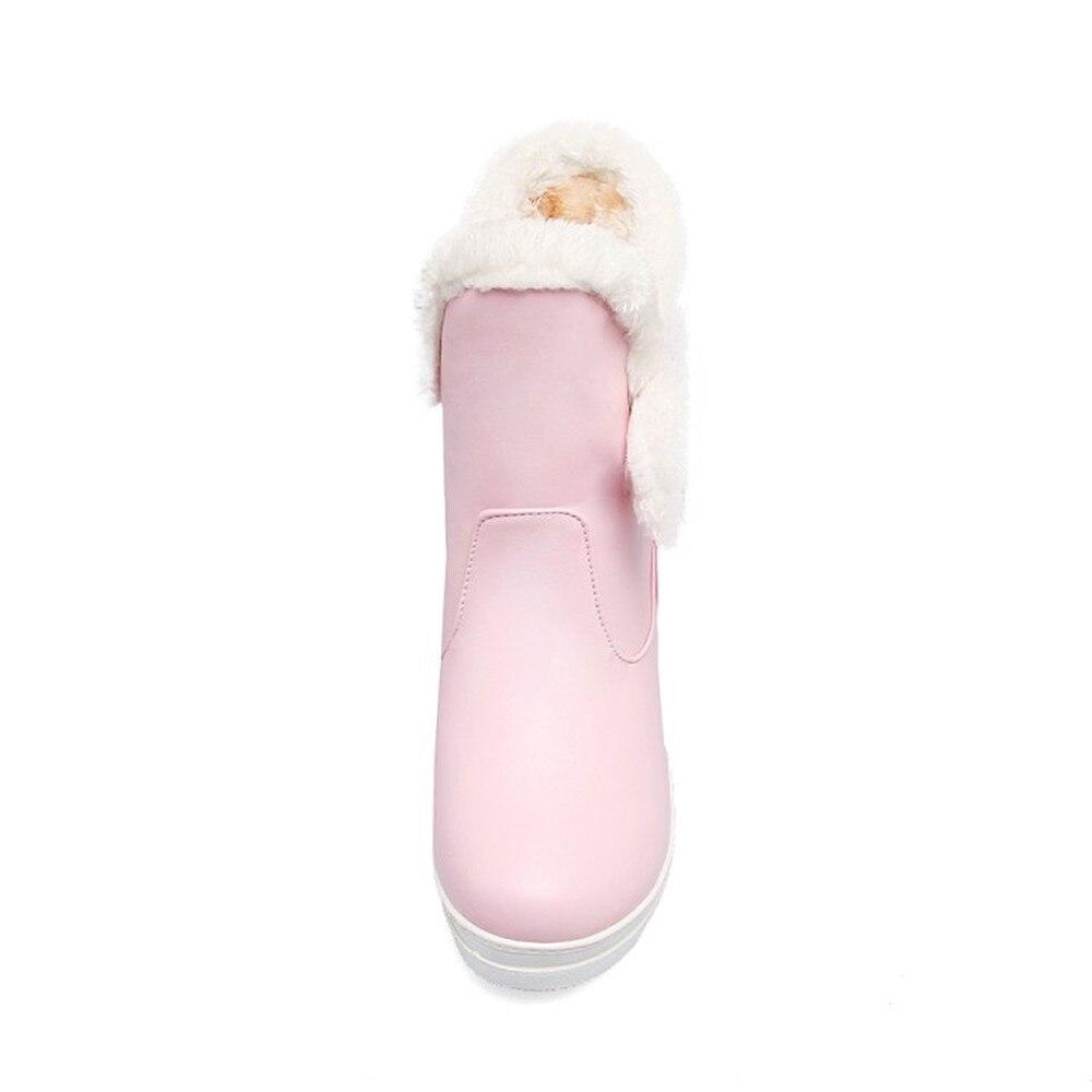 Della Lxunyi Piattaforma Stivali Signore Il Lunga Più Inverno Peluche Donna  Rosa Di Calde Nero Stivaletti bianco Formato Delle Scarpe Altezza Da ... 6eb45e9b23b