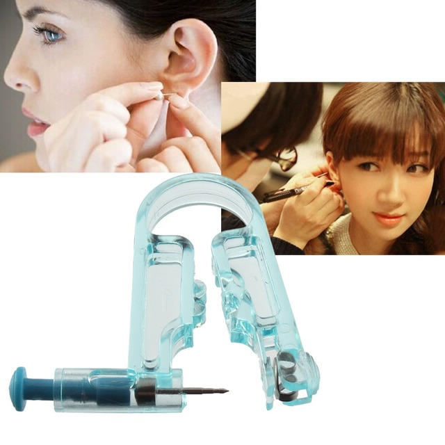 Professional  Body Navel Ear Nose Piercing Gun 1Ears Studs Tool Kit top quality jewelry tools