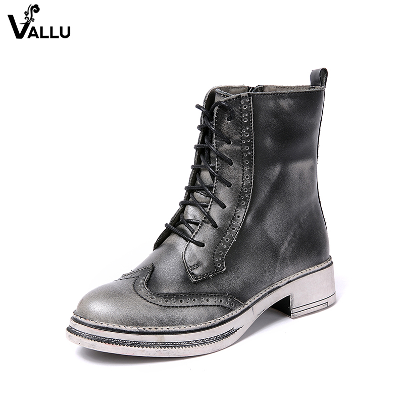 Woven Belt Buckle Women' s Boots Low Cut Cow Leather Female Ankle Short Booties Zipper Vintage Style Sewing Lady Shoes крючки на планке del mare 3 крючка цвет хром 16 5 см