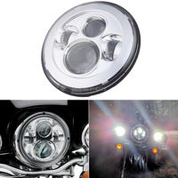 1PCS DOT Approved 7inch Round Motorcycle Headlight For Car Jeep Offroad LED Driving Light 7 Led