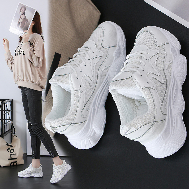 Tleni Spring runnning shoes 2019 New Womens sports Shoes Old Dad Thick-soled sneakers Single ZK-127