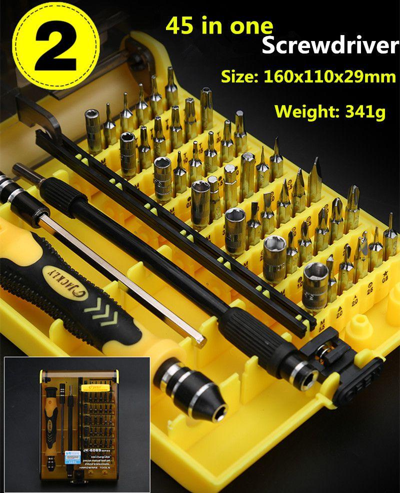 45+9 Pieces  Screwdriver Set Precision Repair Tools Kit,screwdriver for phones. free shipping brand proskit sd 9805 6pcs insulated precision screwdriver set driver kit screwdriver set