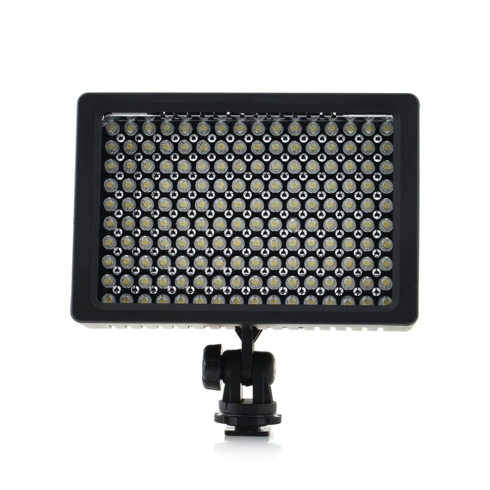 1set Camera HD 160 LED Video Light Lamp 12W 1280LM 5600K/3200K Dimmable for Canon for Nikon for Pentax Camera Video Camcorder wansen w160led 12w 1280lm 5600k 3200k 160 led camera video light for canon nikon sony