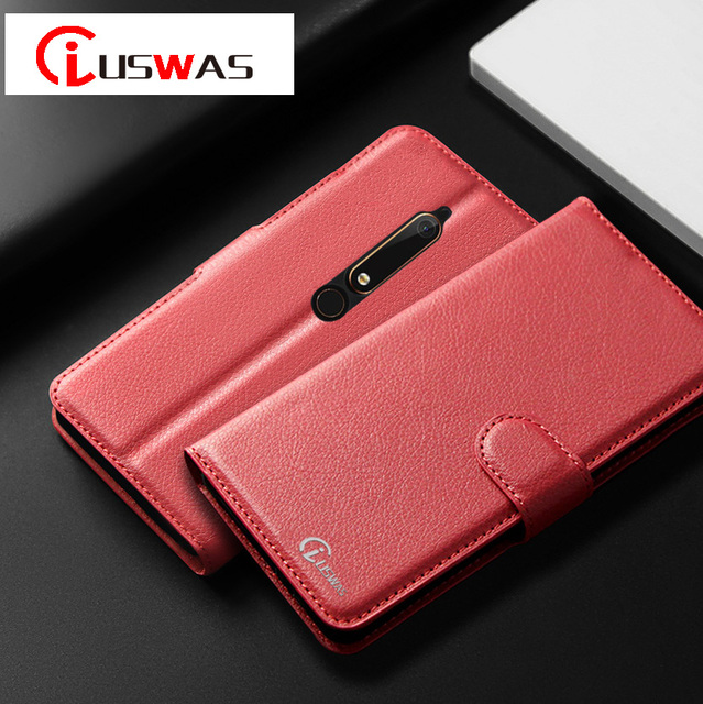 wholesale dealer eed68 ab357 US $4.89 |Iuswas Leather Flip Case For Nokia 6 2018 FOR NOKIA 7 case  Leather Holder Wallet Stand Phone Bag For NOKIA 2 9 Protective Case-in  Wallet ...