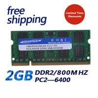Бренд KEMBONA 2GB DDR2 2gb SODIMM 800MHz PC2-6400 200pin 1,8 V ноутбук память оригинальный набор микросхем