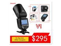 Godox V1 Flash V1C V1N V1S V1F V1O TTL 1/8000s HSS lithium battery Speedlite Flash for C/ N/ S/F/ O camera CD50 T03