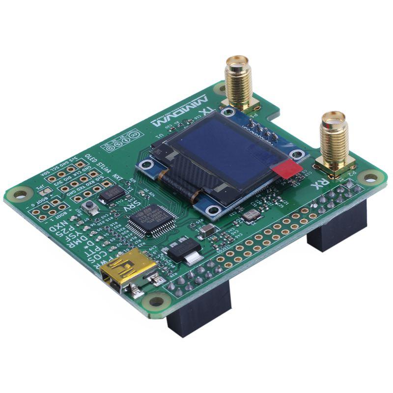 MMDVM_HS_Dual_Hat Duplex MMDVM Hotspot P25 DMR YSF NXDN Pi Revision 1.0 + OLED