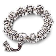 Vintage тибетский буддизм латунь посеребренная шарм веревка браслет для мужчин шесть слов мантры мала yoga лотоса четки браслет