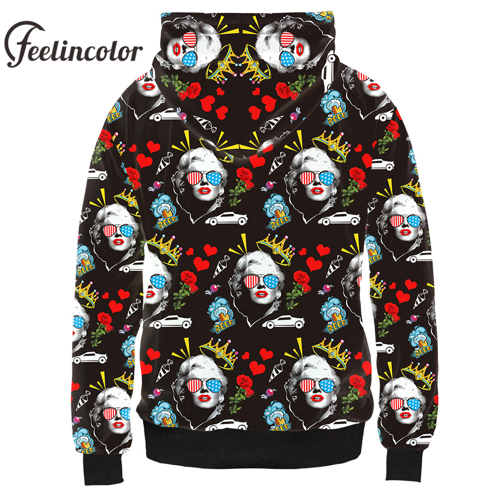 cc74799f2cda Feelincolor New Arrival 3d Hoodies Marilyn Monroe Sweatshirt Men Women  Autumn Winter Hooded Streetwear Clothes Hoodie-in Hoodies   Sweatshirts  from Men s ...