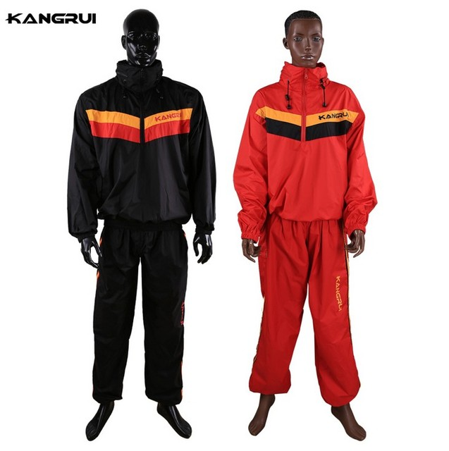 Waterproof unbreathable Red Sweat coat sauna suit male female running fitness uniform lose weight reduce body weight clothing 1