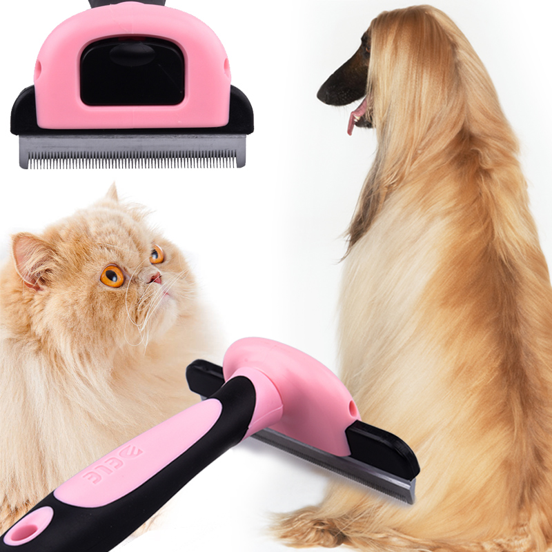 Hair Remover Comb for Cat Dog Detachable Shedding Hair Slicker Trimming Clipper Fallen Thinning Brush Pet Grooming Tool