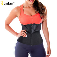 ФОТО junlan slimming waist trainer latex women shapers body control corset weight loss shapewear strap thin belt for sweat work out