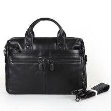 Vintage 100% Real Genuine Leather Men messenger bags cowhide Shoulder bag business men breifcase Laptop bag #VP-J7122